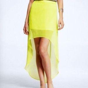EXPRESS Neon High Low Skirt
